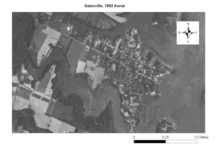 1952 Aerial of Galesville